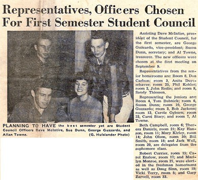 Ist Student Council 1958!
